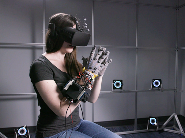 Measuring the perception of latency with a haptic glove