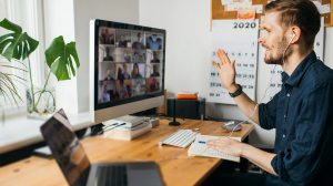 tens of thousands of people spread across the globe, whose demand for video conferencing quadrupled overnight