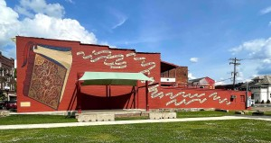 In Appalachian Ohio, a mural celebrating literacy is shown outside the Nelsonville Public Library, a branch of the Athens County Public Libraries in Nelsonville, OH